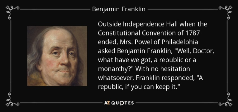 Quote-outside-independence-hall-when-the-constitutional-convention-of-1787-ended-mrs-powel-benjamin-franklin-57-4-0489